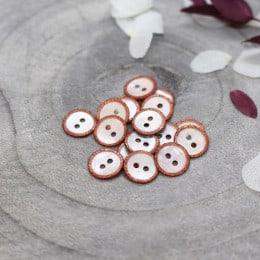 Glitz Buttons - Chestnut