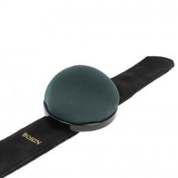 Velvet pincushion with slap bracelet ( green)