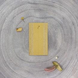 Striped rubber band - Mustard