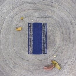 Striped rubber band - Cobalt