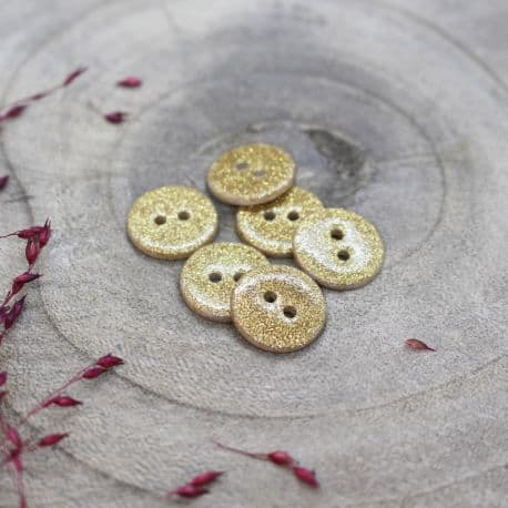 Glitter Buttons - Off-White