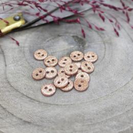 Glitter Buttons - Powder