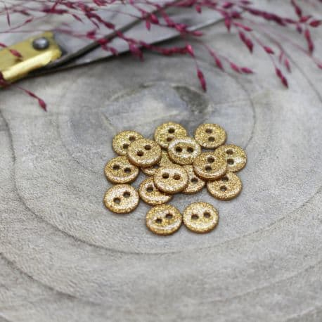 Glitter Buttons - Ochre