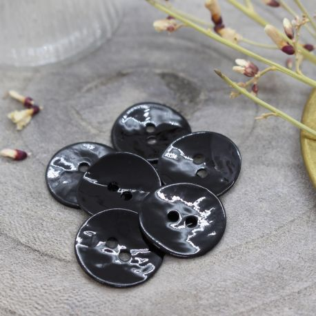 Glossy Buttons - Black