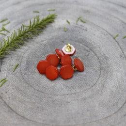 Quartz Buttons - Tangerine