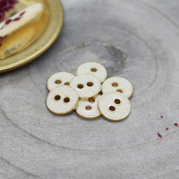 Joy Glitter Buttons - Off-White
