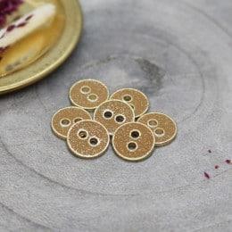 Joy Glitter Buttons - Ochre
