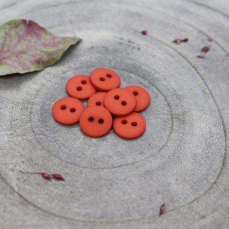 Classic Matte Buttons - Tangerine
