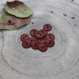 Classic Matte Buttons - Rust