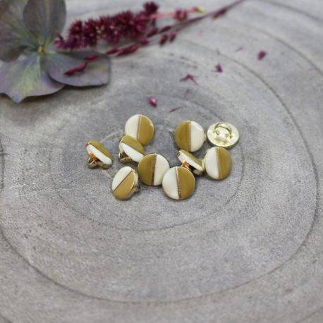Wink Buttons Off-White - Mustard