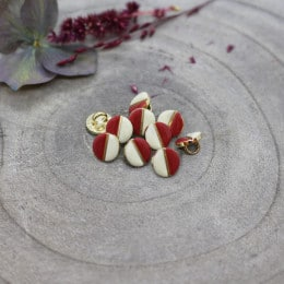 Boutons Wink Off-White - Terracotta