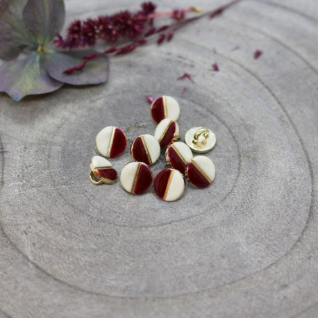 Wink Buttons Off-White - Amarante