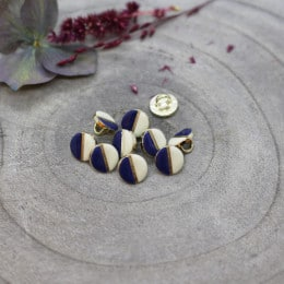 Boutons Wink Off-White - Cobalt