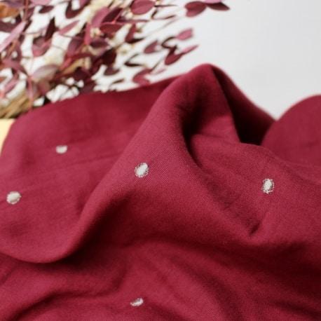 Stardust Amarante Fabric Remnants
