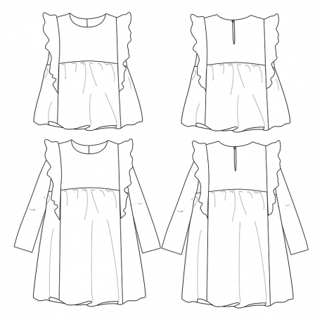 Stella Duo Blouse & Dress 3-12 yo
