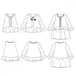 Lilas trio blouse