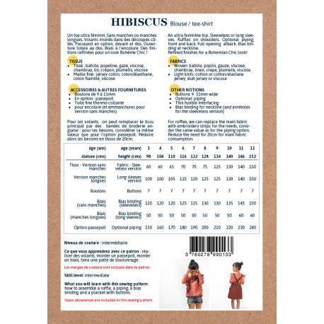 Blouse Hibiscus 3-8 yo
