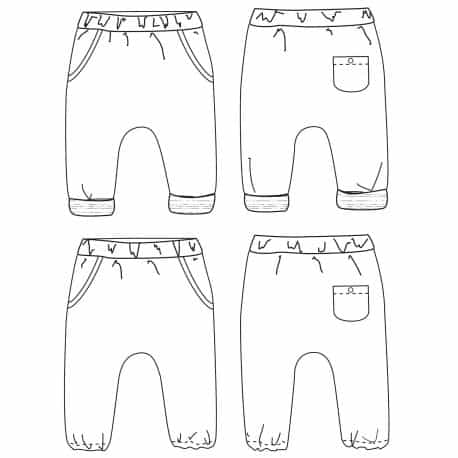 Sevilla unisex harem pants - 1 month à 4 years old