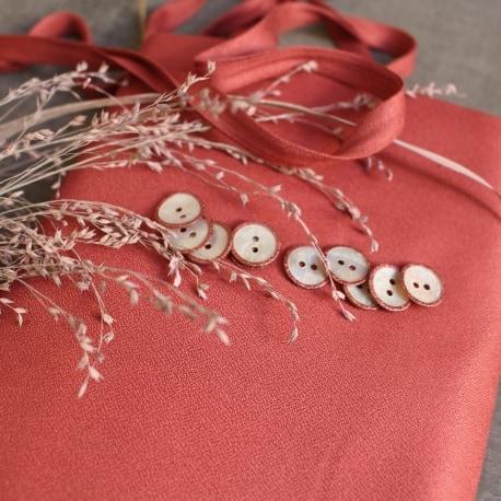 Crepe Terracotta Fabric