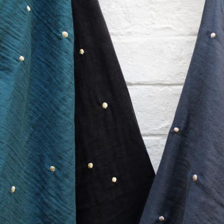 Stardust Black Fabric